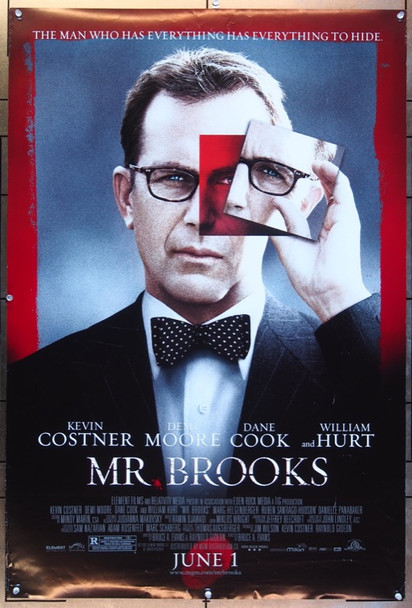 MR. BROOKS (2007) 20672 Original Element Films Style A One Sheet Poster (27x41).  Double-Sided.  Rolled.  Very Fine.