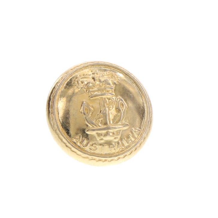Navy Gold Button Small