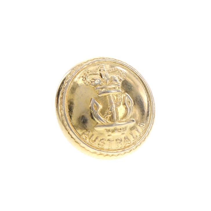 Navy Gold Button Medium