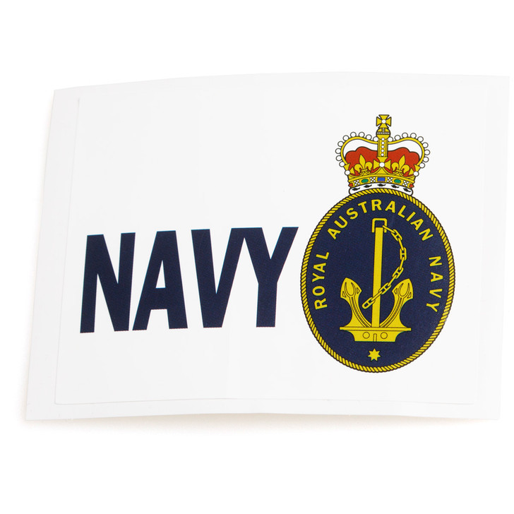 Navy Rectangular Sticker