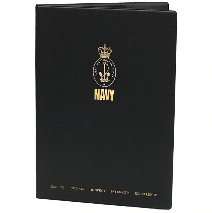 Navy A4 Certificate Folder - 2020 Values