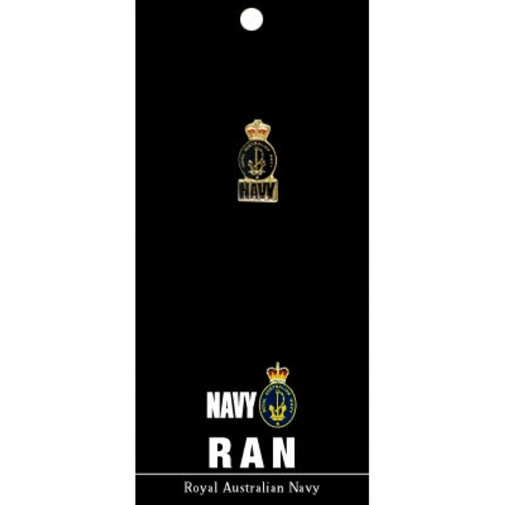 Navy Lapel Pin On Card