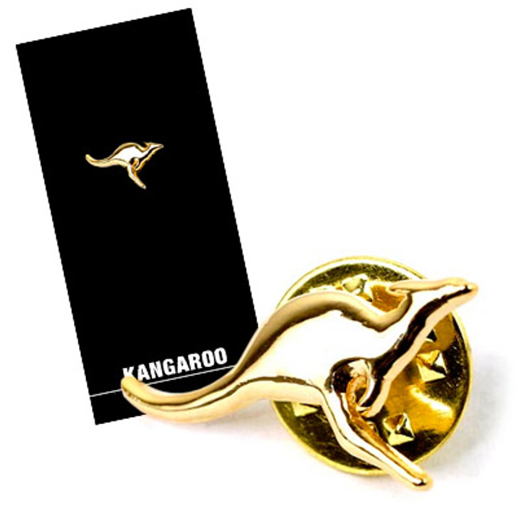Kangaroo Lapel Pin On Card