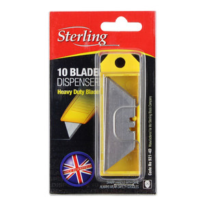 Sterling Heavy Duty 10 Replacement Blades With Safety Dispenser - 921-4D