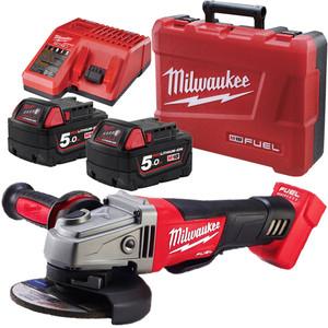 "Milwaukee M18 FUEL™ 125mm (5"") Angle Grinder Kit - M18CAG125XPD-502C"
