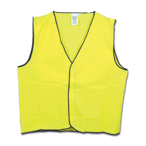 Frontier Safety Hi Vis Yellow Vest - Large - FRDAYVESTYY000L