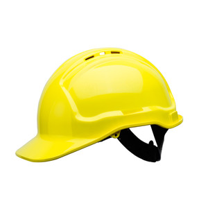 Frontier Safety Tuffgard Vented 6 Point Web Suspension Hard Hat - Yellow - FRTG57VTDYY0000