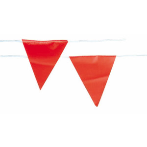 Frontier Safety Orange Flag Bunting - 30m Roll - FRBUNTINGFO030M