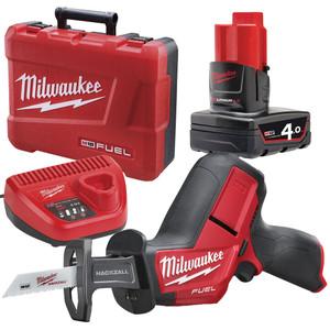 Milwaukee 12V 4.0Ah Brushless FUEL Hackzall Reciprocating Saw Kit - M12CHZ-401C