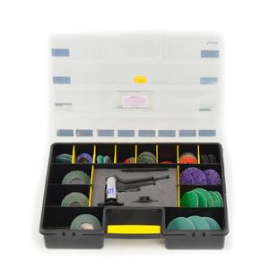 "Shinano 45 Piece 2"" & 3"" Pneumatic Sanding & Paint Stripping Mini Roloc Sander Kit - SI-2201-KIT3"