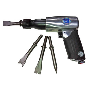 Shinano Pneumatic Pistol Grip Air Hammer with 4 Piece Chisel Set - SI-4120A
