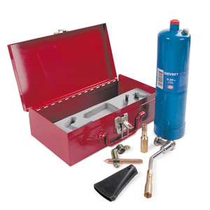 Tradeflame Heating and Soldering Handyman Kit In Metal Case With Propane Bottle - BJ2101