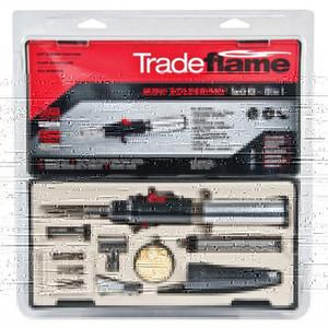 Tradeflame Mini Soldering Butane Torch Kit 10 in 1 - 211189