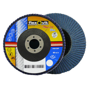 Flexovit 115mm x 22mm Zirconia Flap Discs 80 Grit - 10 Pack