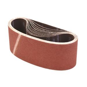 Norton Abrasives 75mm x 610mm Metalite Cloth Sanding Belts 60 Grit- 10 Pack