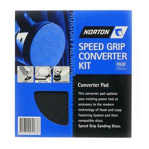 Norton Abrasives 125mm Speedgrip Converter Pad Kit - Self Adhesive
