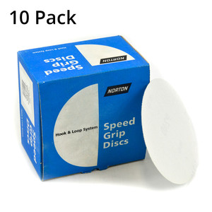 Norton Abrasives 150mm No-Fil (White) Sanding Discs 100 Grit -  No Holes - 10 Pack