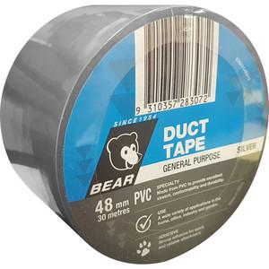 Norton Abrasives General Purpose PVC 30m x 48mm Duct Tape - Silver - 10 Pack
