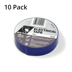 Norton Abrasives 20m x 18mm Electrical Tape - Blue - 10 Pack