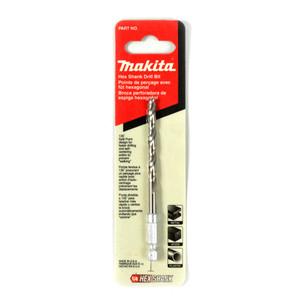 """Makita 1/8"""" (3.2mm) Hex Shank High Speed Steel Drill Bit"""