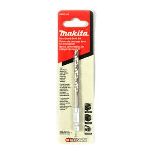 """Makita 3/16"""" (4.8mm) Hex Shank High Speed Steel Drill Bit"""