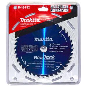 Makita BlueMak 210mm 40 Tooth TCT Wood Circular Saw Blade - 25mm Bore