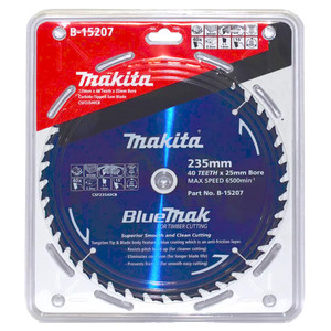 Makita BlueMak 235mm 40 Tooth TCT Wood Circular Saw Blade - 25mm Bore