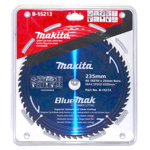 Makita BlueMak 235mm 60 Tooth TCT Wood Circular Saw Blade - 25mm Bore