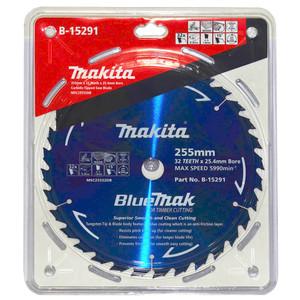 Makita BlueMak 255mm 32 Tooth TCT Wood Mitre Saw Blade - 25.4mm Bore