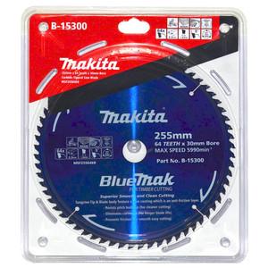 Makita BlueMak 255mm 64 Tooth TCT Wood Mitre Saw Blade - 30mm Bore