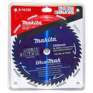 Makita BlueMak 260mm 50 Tooth TCT Wood Mitre Saw Blade - 25.4mm Bore