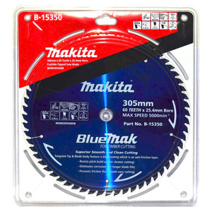 Makita BlueMak 305mm 60 Tooth TCT Wood Mitre Saw Blade - 25.4mm Bore