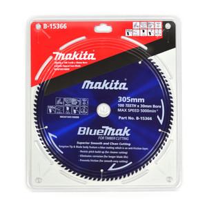 Makita BlueMak 305mm 100 Tooth TCT Wood Mitre Saw Blade - 30mm Bore
