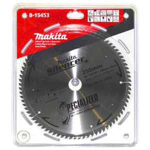 Makita Silencer 255mm 80 Tooth TCT Wood Mitre Saw Blade - 30mm Bore