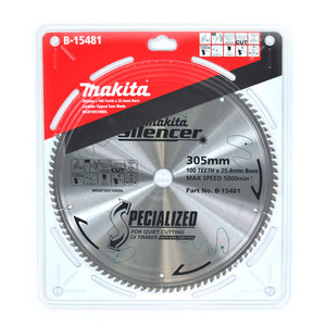 Makita Silencer 305mm 100 Tooth TCT Wood Mitre Saw Blade - 25.4mm Bore
