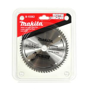 Makita Silencer 160mm 60 Tooth TCT Aluminium Circular Saw Blade - 20mm Bore