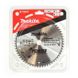Makita Silencer 190mm 60 Tooth TCT Aluminium Mitre Saw Blade - 20mm Bore