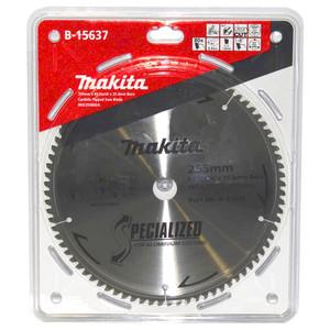 Makita Silencer 255mm 80 Tooth TCT Aluminium Mitre Saw Blade - 25.4mm Bore