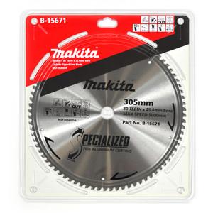 Makita Silencer 305mm 80 Tooth TCT Aluminium Mitre Saw Blade - 25.4mm Bore