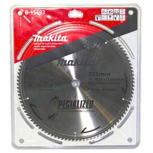 Makita Silencer 355mm 100 Tooth TCT Aluminium Mitre Saw Blade - 25.4mm Bore