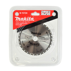 Makita Specialized 136mm 30 Tooth TCT Metal Cold Cut Saw Blade - 20mm Bore