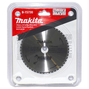 Makita Specialized 136mm 50 Tooth TCT Metal Cold Cut Saw Blade - 20mm Bore