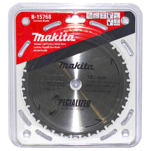 Makita Specialized 185mm 36 Tooth TCT Cermet Metal Cold Cut Saw Blade - 20mm Bore