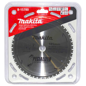 Makita Specialized 185mm 48 Tooth TCT Metal Cold Cut Saw Blade - 20mm Bore