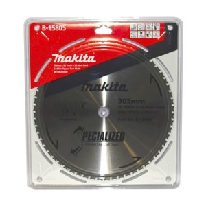 Makita Specialized 305mm 60 Tooth TCT Metal Cold Cut Saw Blade - 25.4mm Bore