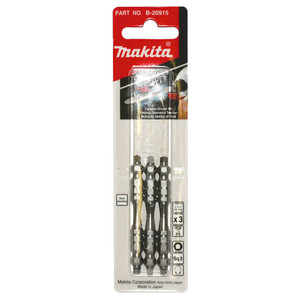 Makita SQ2 x 65mm Torsion Screwdriver Bits - Double Ended - 3 Pack
