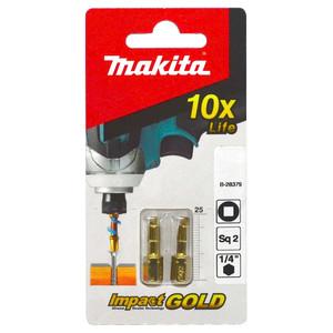 Makita SQ2 x 25mm Gold Torsion Screwdriver Bits - 2 Pack