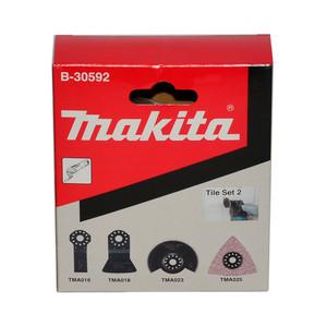 Makita 4 Piece Multi-Tool Attachment Bit Set - Tile Set 2