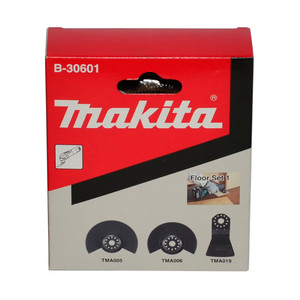 Makita 3 Piece Multi-Tool Attachment Bit Set - Floor Set 1