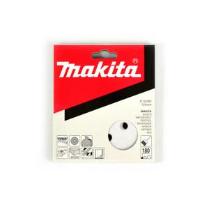 Makita 125mm White Sanding Discs Hook & Loop Style 180 Grit - 8 Holes - 10 Pack